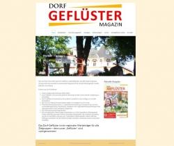 Dorfgeflüster Magazin Webdesign
