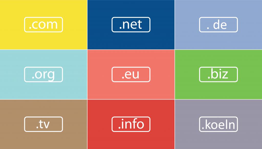 Suchmaschinenoptimierung - Domains Domainendungen