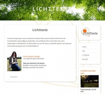 Lichttexte Webdesign