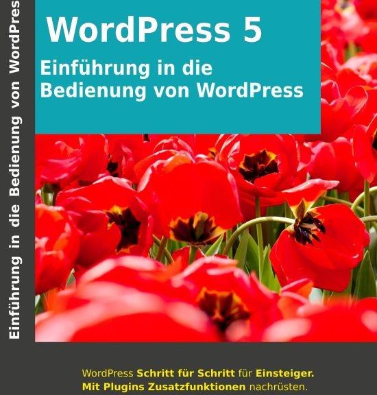 Cover Einführung in die Bedienung von WordPress 5