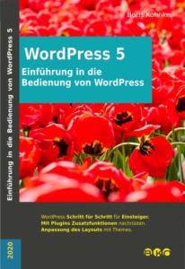 Cover Einführung in die Bedienung von WordPress 5.4 BKO